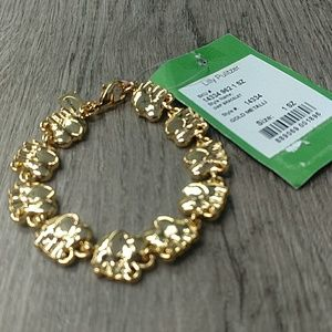 Lilly Pulitzer Gold Elephant Link Bracelet
